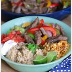 Beef Fajita Brown Rice Bowls
