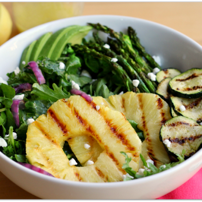 Grilled Pineapple Asparagus Salad