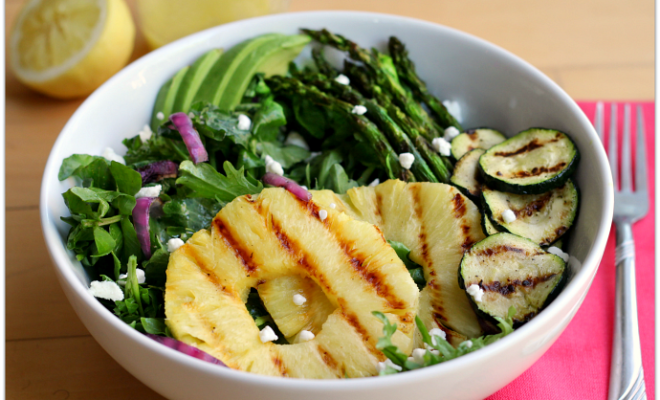 Grilled Pineapple Asparagus Salad | Mama Harris' Kitchen