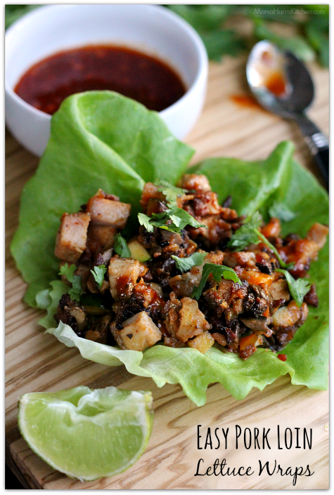 Easy Pork Loin Lettuce Wraps AD #RealFlavorRealFast | Mama Harris' Kitchen