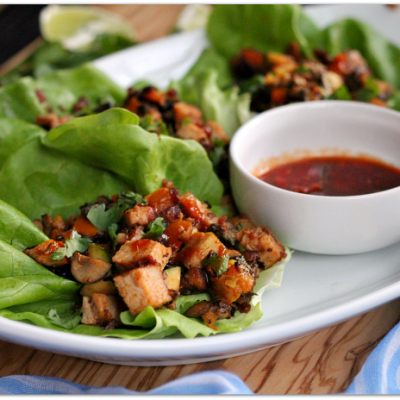 Easy Pork Loin Lettuce Wraps