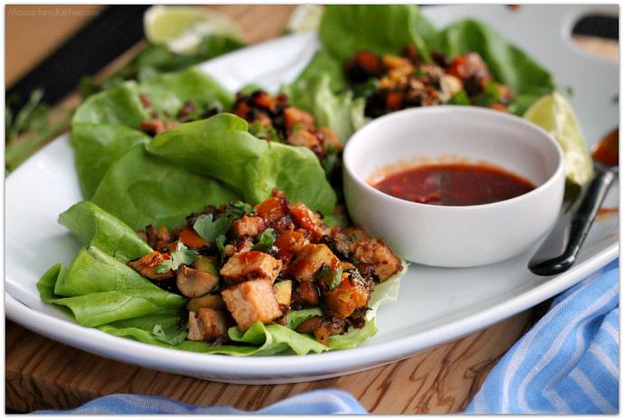 Easy Pork Loin Lettuce Wraps AD #RealFlavorRealFast   Mama Harris' Kitchen