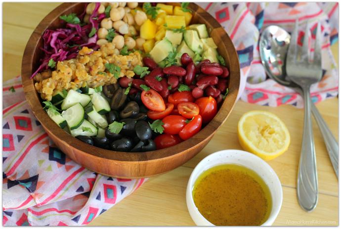 Fresh Lentil Bean Salad AD #LoveALentil #LetsLentil   Mama Harris' Kitchen