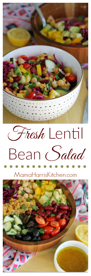 Fresh Lentil Bean Salad AD #LoveALentil #LetsLentil | Mama Harris' Kitchen