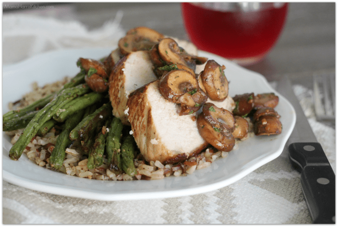 Mushroom Lovers' Roasted Pork Loin Filet and Green Beans #RealFlavorRealFast AD | Mama Harris' Kitchen