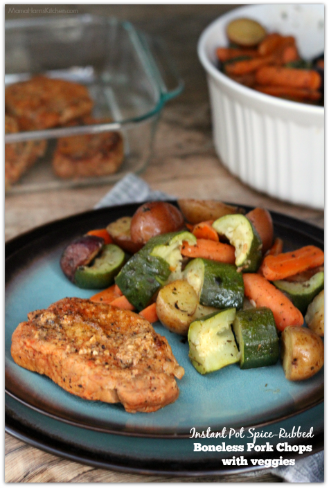 Instant Pot Spice-Rubbed Boneless Pork Chops with Veggies #OpenNature AD | Mama Harris' Kitchen