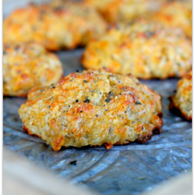 Three Cheese Garlic-Herb Drop Biscuits