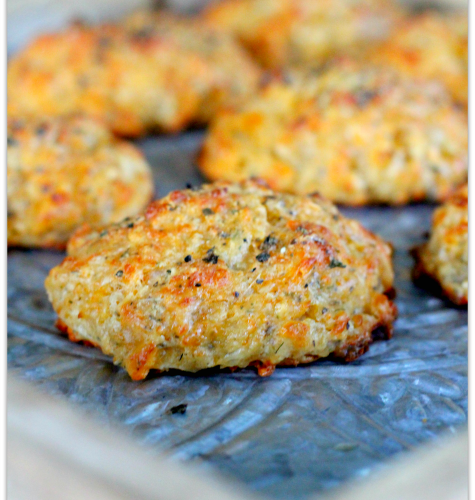 Three Cheese Garlic-Herb Drop Biscuits | Mama Harris' Kitchen