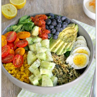 Quinoa Veggie Bowl with Chipotle Ranch | Mama Harris' Kitchen