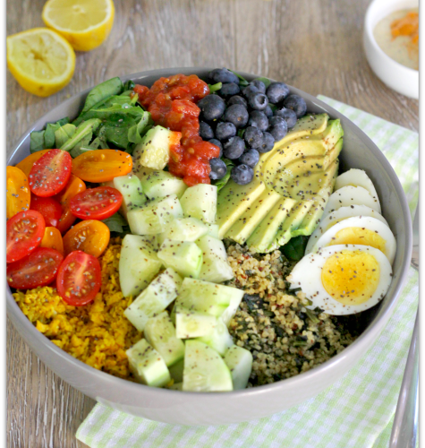 Quinoa Veggie Bowl with Chipotle Ranch | Mama Harris' Kitchen