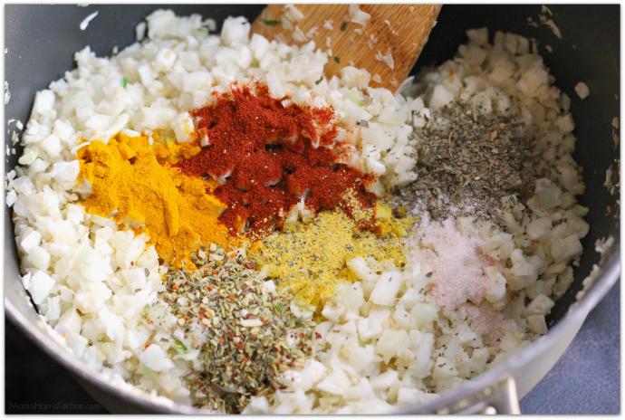 Smoky Turmeric Cauliflower Rice | Mama Harris' Kitchen