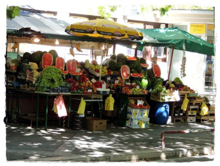 Gemüsemarkt in Kroatien