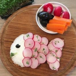 Funny Food, Foodart,Fisch, Fisch, Essen für Kinder, for Kids, Abendbrot, Frühstück