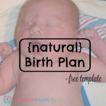 Use this free birth template to plan your labor. #birth #labor #birthplan