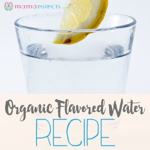 DIY organic flavored water