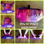 How to fold a babycarrier