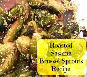 Roasted Sesame Brussel Sprouts Recipe