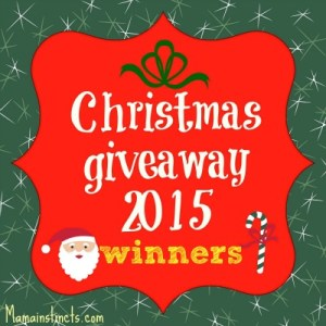 Christimas giveaway 2015 winners