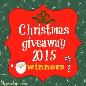 Christimas giveaway 2015 winners