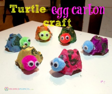 Turtle egg carton craft1