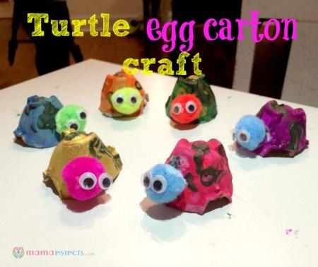 Turtle egg carton craft1