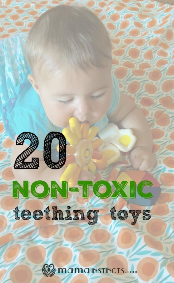 Everything babies chew going into their little bodies. Finding non-toxic teething toys is the best way to make sure they don't ingest unnecessary chemicals. Click to find out which toys are best or pin for later.