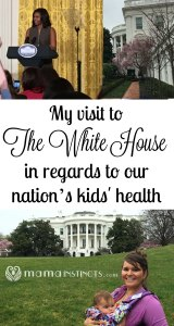 My visit to the White House in regards to our nation's kids' health