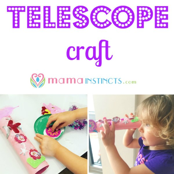 Fun and easy craft that kids can make by themselves. Provides hours of fun exploration. #telescopecraft #craft #kidcraft #crafts #kidactivity