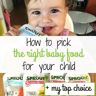 Find out what to look for when buying food for you baby plus my favorite organic baby food brand. #Sprout {Sponsored}