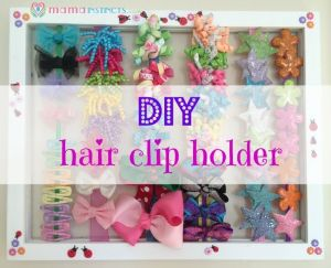 DIY hair clip holder