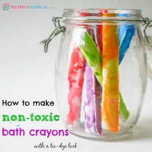 How to make non-toxic bath crayons