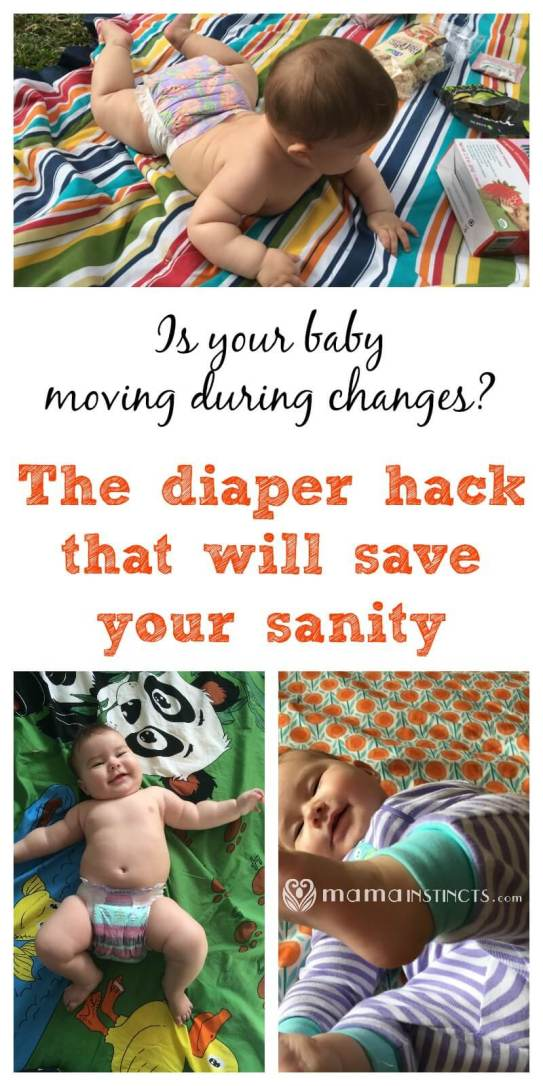 Do you have a baby that moves or kicks you as soon as you try to change his diaper? Then try this hack to get him to stay still while you change his diaper.