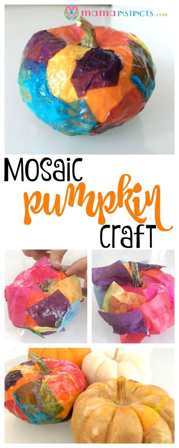 Try this fun and easy pumpkin craft. It's so easy to make that any kid can make it. The perfect fall craft for a chilly day.