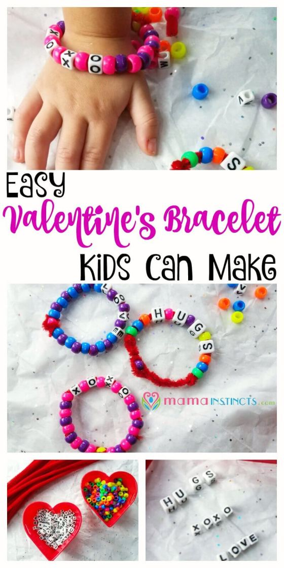 Try this easy and fun activity for Valentine's day. It's a great way to practice fine motor skills and letter recognition for kids 3 and older. If you're child is younger they will love this activity too but they will need adult supervision since the beads are a choking hazard.