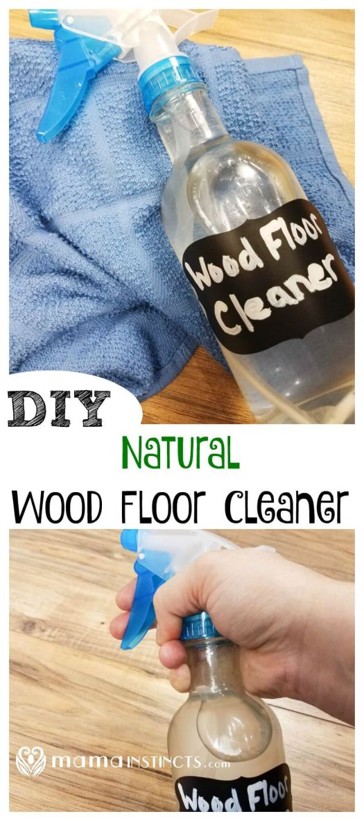 Don't use toxic chemicals to clean your floors, especially if you have kids or a crawling baby. Try this simple DIY recipe made with natural ingredients to clean those hardwood floors.