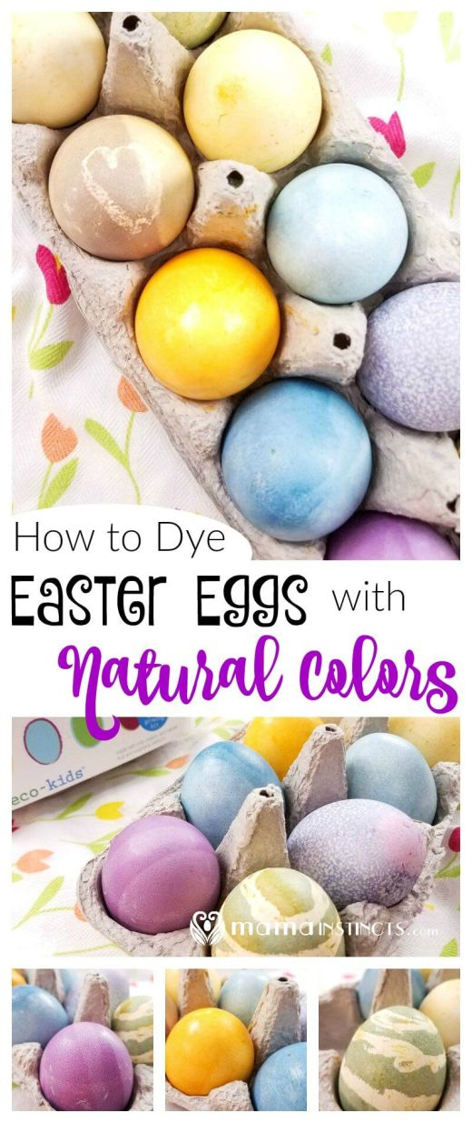 Avoid artificial food dyes on your Easter Eggs. Find out how you can dye your Easter eggs using natural food dyes, safe for kids and babies.