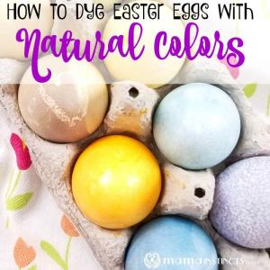 How to Dye Easter Eggs with Natural Colors