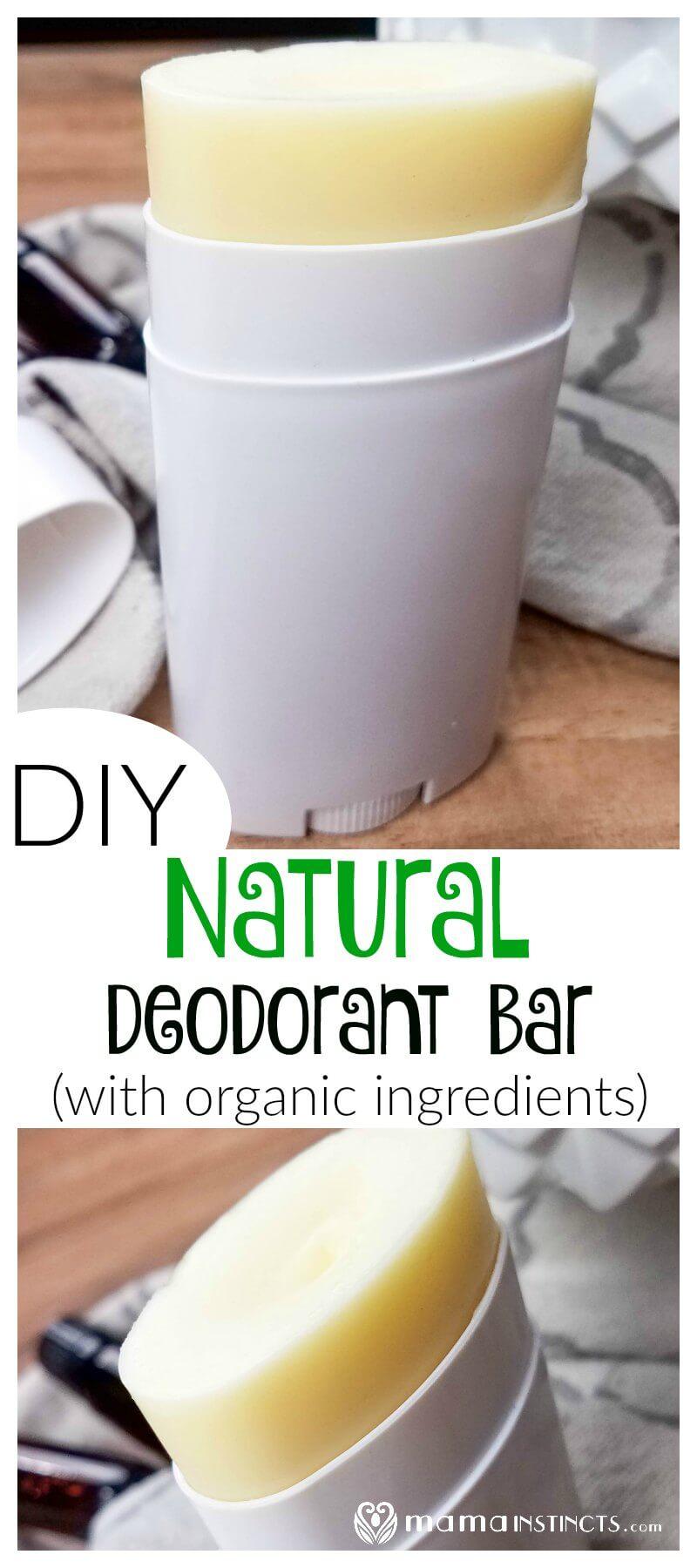 DIY Natural Deodorant Bar (with Organic Ingredients) – Mama Instincts®