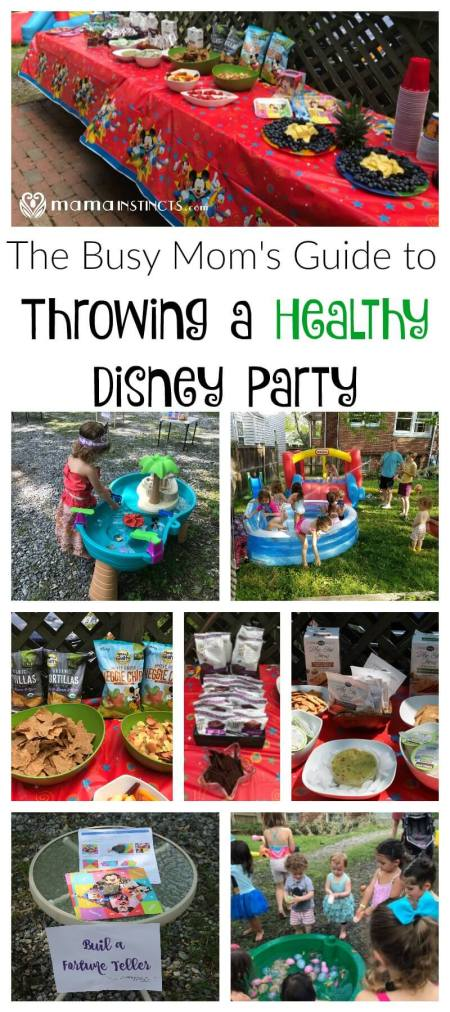 Who says you need lots of time and skills to throw a Disney themed party? Check out this tutorial with ideas on how to throw a Disney party with healthy snacks. #DisneyKids