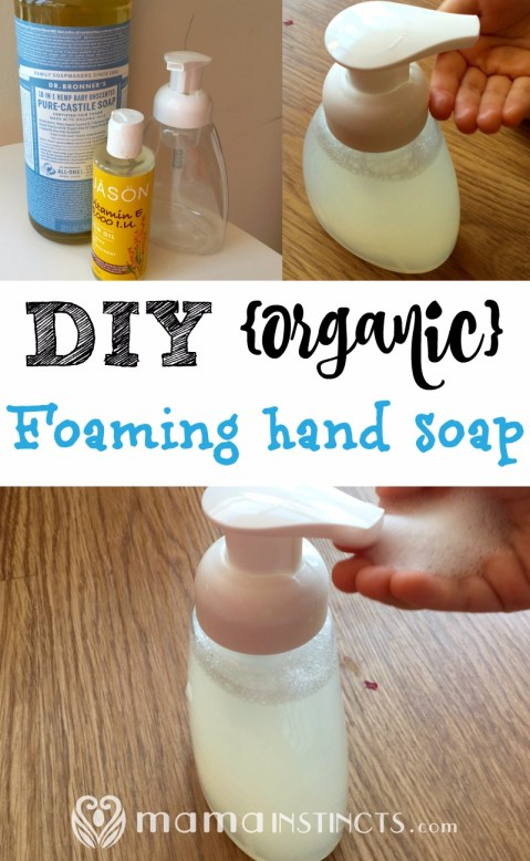 Make this organic foaming hand soap in just 2 minutes. Save money and use a non-toxic product for your family.