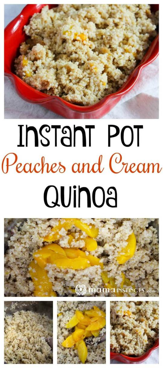 Looking for your new favorite breakfast recipe? Try this Instant Pot Peaches and Cream quinoa recipe. It not only tastes amazing, but it is ready in just a few minutes.
