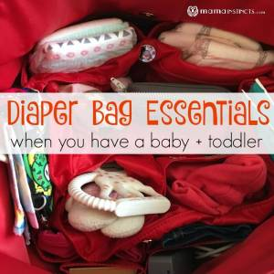 Diaper Bag Essentials When You Have a Baby + Toddler