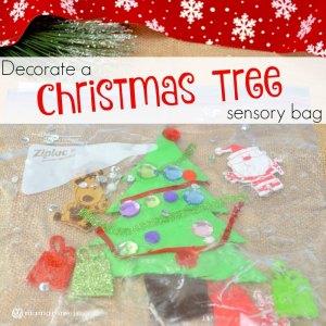 Decorate A Christmas Tree Sensory Bag