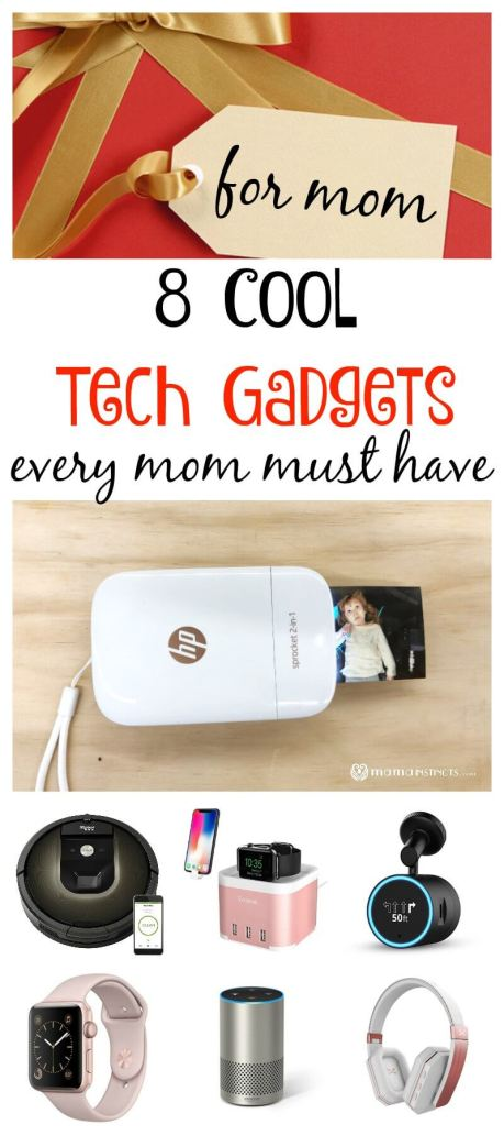 Looking for a great gift for mom? Check out this list with 8 awesome tech gadgets she will love. #giftguide #giftsformom #techgifts