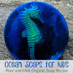 DIY Ocean Soaps for Kids {Pour and Melt Organic Soap Recipe}