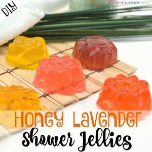 DIY Honey Lavender Shower Jellies