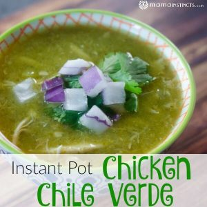Instant Pot Chicken Chile Verde Soup
