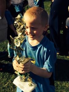 jordan and his trophy