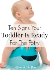 Ten Signs Your Toddler is Ready for the Potty