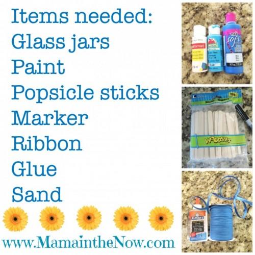 Chore Sticks Items Needed